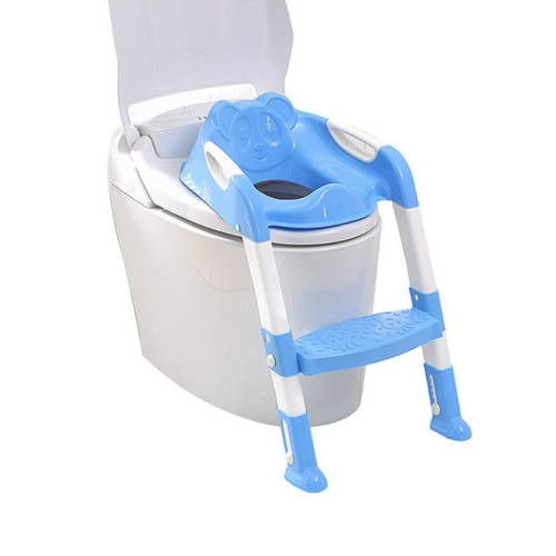 Blue Huahdge Baby Potty Training Potty Seat Children with Adjustable Scale Infant Baby Toilet Seat Toilet Training Folding Chair