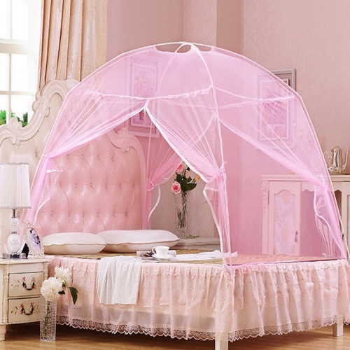 Heighten Encrypted Bottomed Yurt Mosquito Net, Size:200x200 cm(Pink)