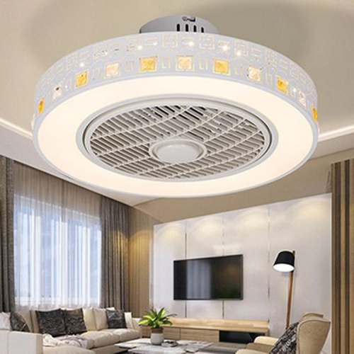 Sunsky 80w Ultra Thin Fan Ceiling Lamp Bedroom Modern Minimalist Dining Chandelier Support Three Color Dimming Remote Control App Beautiful
