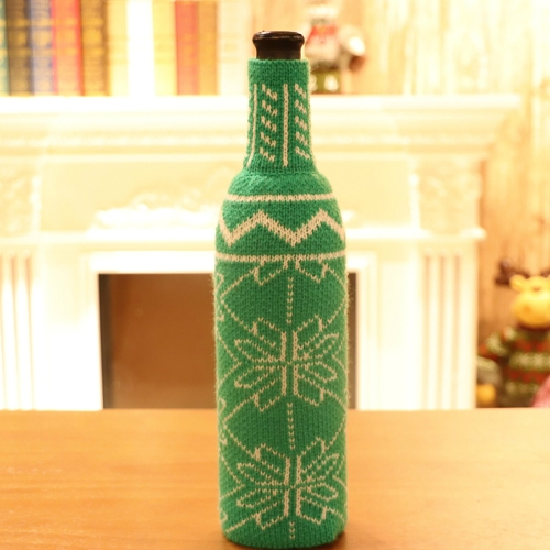 snowflake table decorations.htm sunsky snowflake knit sweater bottle set christmas decoration green   sunsky snowflake knit sweater bottle