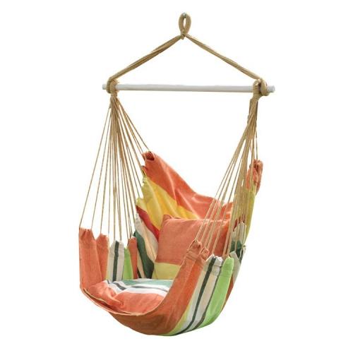 Canvas Hammock Adult Indoor Swing Cradle Outdoor Handing Chair Children Hammock Random Color Delivery