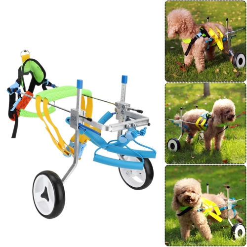Pet Wheelchair Disabled Dog Old Dog Cat Assisted Walk Car Hind Leg Exercise Car For Dog/Cat Care, Size:XS