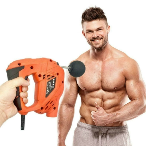 220V Small Electric Muscle Massage Relaxer Fascia Gun, Cable Length: 1.7m(US Plug)