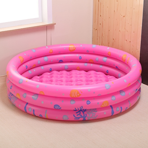 Intime YT-830 Four Rings Round Baby Swimming Pool Ocean Ball Pool, Size:150 x 45cm(Pink)