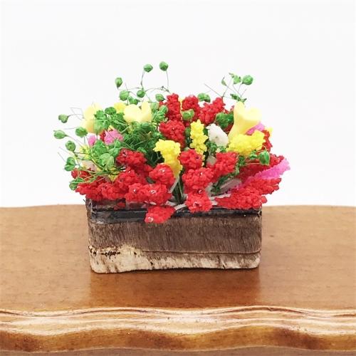1:12 Dollhouse Miniature Furniture Flower Potted Clay Garden Scene Landscape