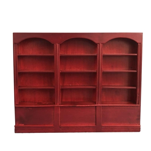 Sunsky 1 12 Mini House Toy Simulation Triple Display Cabinet Red