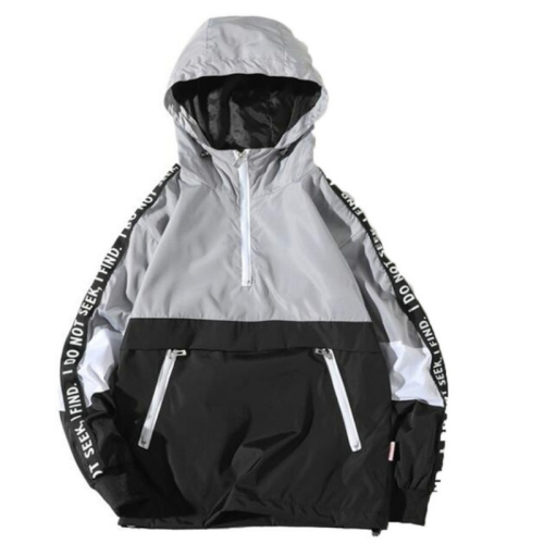 Autumn Winter Loose Hooded Assault Coat Men Large Size Jacket zipper Hooded Outwear Coat S(Gray) фото