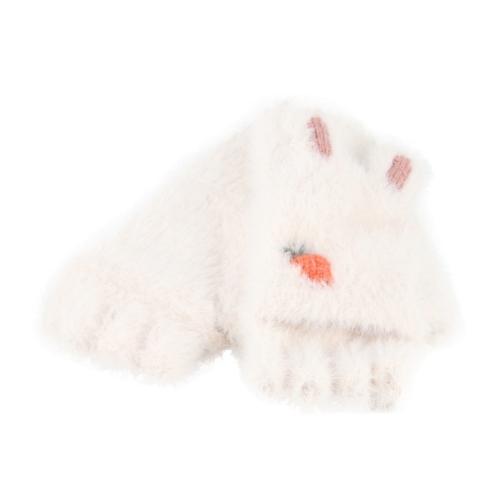 Boys Men/'s Outdoor Cold Winter Black Knit Knitted Half Finger Fingerless Gloves