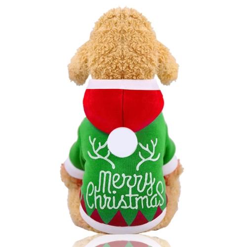 Sunsky Christmas Santa Costume Winter Pet Dog Clothes With