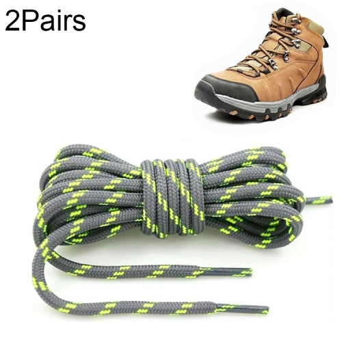 2 pairs round boot laces shoelaces for hiking work safety boots shoes men women