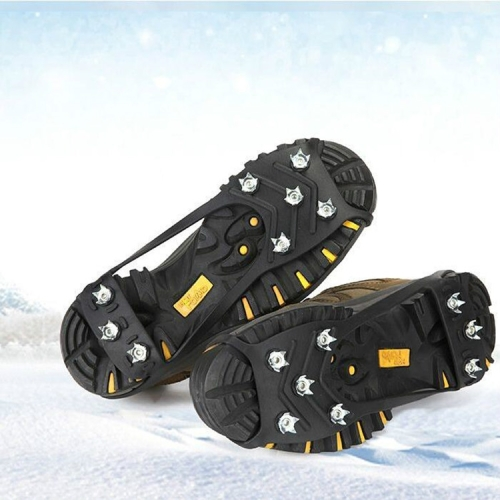 8 Teeth Ice Claw Outdoor Non-slip Shoes Covers for Ice Snow Ground, Size:M(35-40 Yards)(Black)