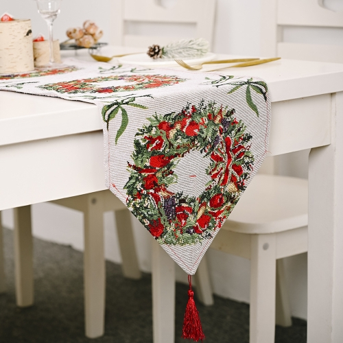 2 PCS Creative Christmas Home Decoration Items Knitted Tablecloth Dining Table(Garland) фото