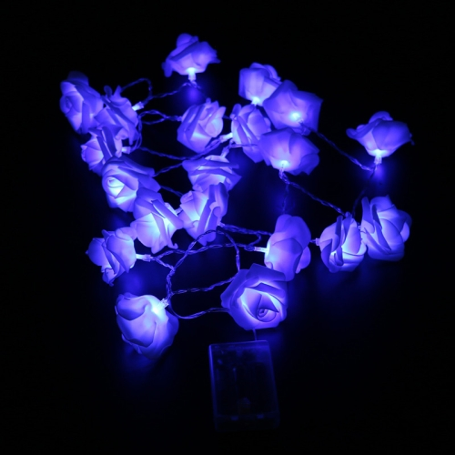 Battery operated Novelty Rose Flower Fairy String Lights 20LEDs 3M Fashion Holiday Lighting Wedding Party Christmas Decoration(Blue)