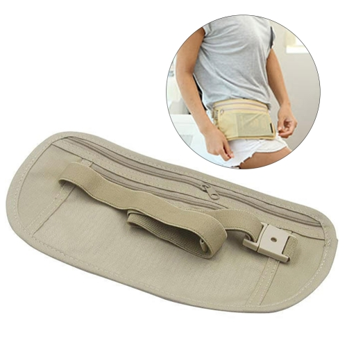 5 PCS Multifunctional Outdoor Waist Belt Bag Travel Anti-theft Invisible Phone (Khaki)