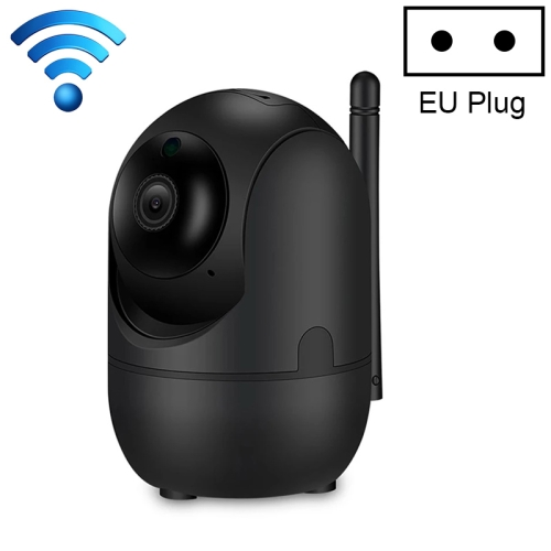 HD Cloud Wireless IP Camera Intelligent Auto Tracking Human Home Security Surveillance Network WiFi Camera, Plug Type:EU Plug(1080P Black)