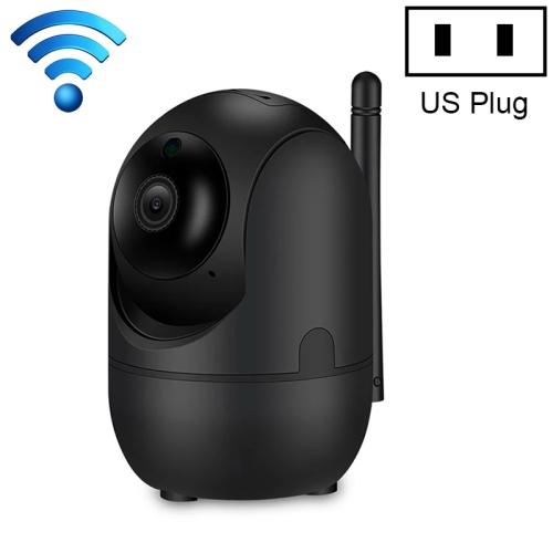 HD Cloud Wireless IP Camera Intelligent Auto Tracking Human Home Security Surveillance Network WiFi Camera, Plug Type:US Plug(1080P Black)