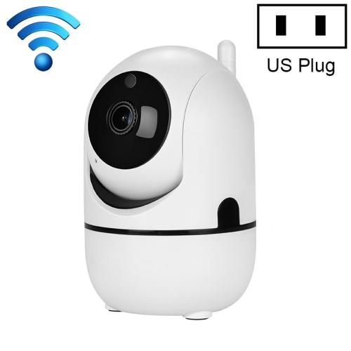 HD Cloud Wireless IP Camera Intelligent Auto Tracking Human Home Security Surveillance Network WiFi Camera, Plug Type:US Plug(1080P White)