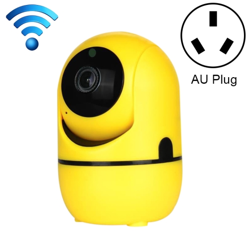 HD Cloud Wireless IP Camera Intelligent Auto Tracking Human Home Security Surveillance Network WiFi Camera, Plug Type:AU Plug(1080P Yellow)