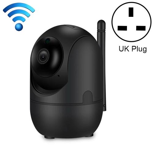 HD Cloud Wireless IP Camera Intelligent Auto Tracking Human Home Security Surveillance Network WiFi Camera, Plug Type:UK Plug(1080P Black)