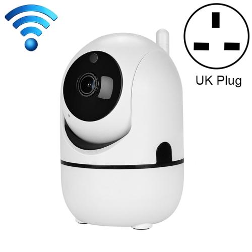 HD Cloud Wireless IP Camera Intelligent Auto Tracking Human Home Security Surveillance Network WiFi Camera, Plug Type:UK Plug(1080P White)