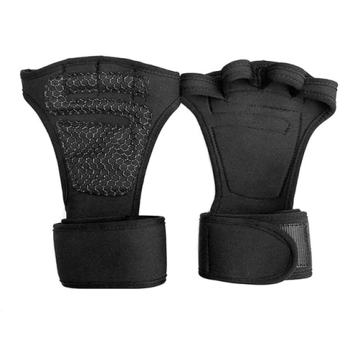 1 Pair Fitness Training Gloves Sports Wristband, Size:L(Black)