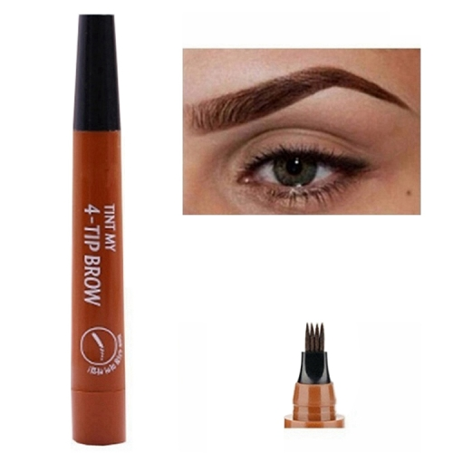 Microblading Eyebrow Pen Waterproof Fork Tip Eyebrow Tattoo Pencil Long Lasting Professional Fine Sketch Liquid Eye Brow Pencil(Light Brown)