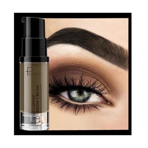 Pudaier Long-lasting Eyebrow Cream Natural Liuqid Eyebrow Gel Tattoo Makeup Eye Brow Tint Brows Pigment Black Eyebrow Enhancer(01#)