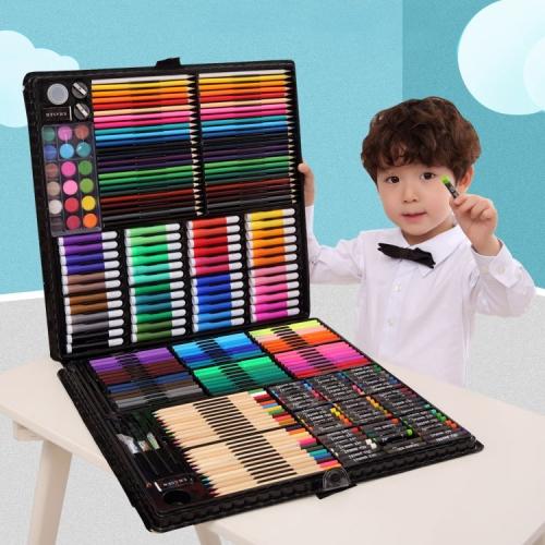 Art Set Painting Watercolor Drawing Tools Kids Gift Box(288 PCS Black)
