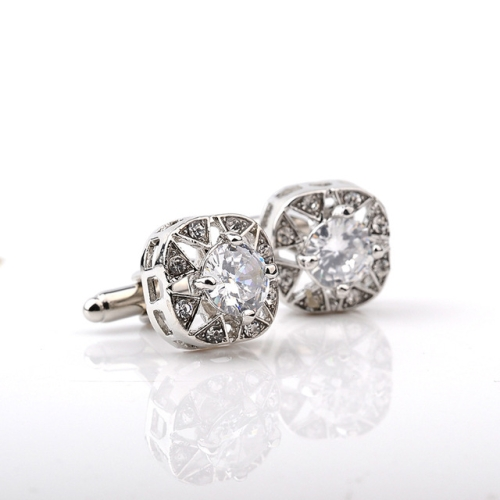 1 Pair Fashion Luxury Crystal Cufflinks