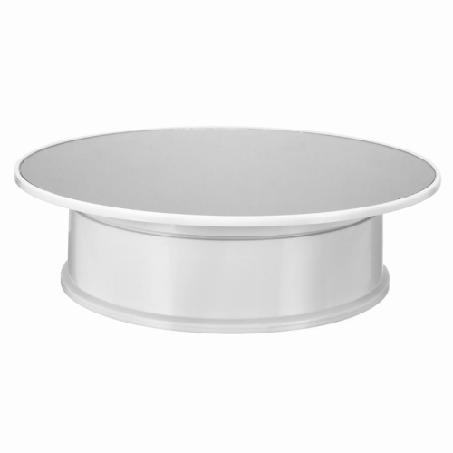 30cm 360 Degree Electric Rotating Turntable Display Stand Mirror Top Video Shooting Props Turntable for Photography, Max Load 4kg (White)