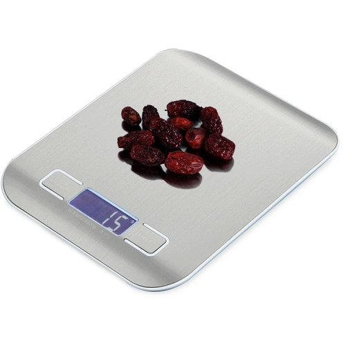 Digital Multi-function Stainless Steel Food Kitchen Scale with LCD Display(Silver)