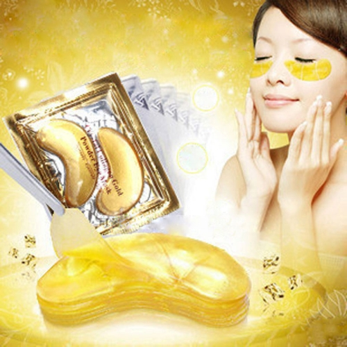 10 Packs Gold Crystal Collagen Eye Mask Eye Patches Eye Mask For Face Care Dark Circles Remove Gel Mask for the Eyes Ageless