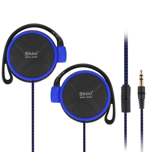 Shini Q940 3.5mm Super Bass EarHook Earphone for Mp3 Player Computer Mobile(Blue No Mic)