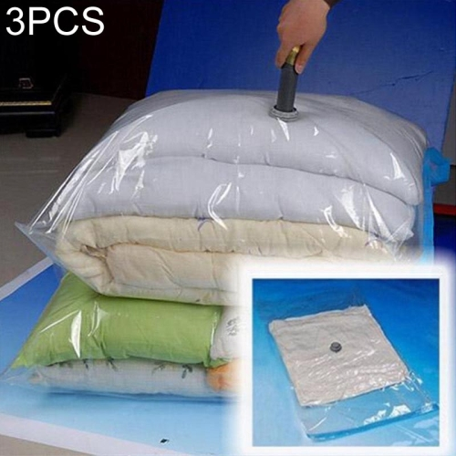 3 PCS Hot Vacuum Bag Storage Organizer Transparent Border Foldable Extra Large Seal Compressed Travel Saving Space Bags(60x80cm)