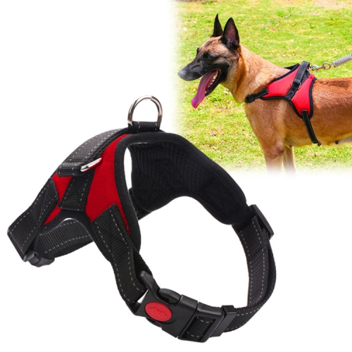 Adjustable Harness For Small Medium Large Dogs Pet Walking Hand Strap, Size:L(Red)