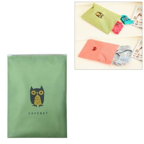 Travel Storage Bags Zipper Organizer Bag for Clothing Underwear Socks Shoes Storage Bag, Size:S(Owl)