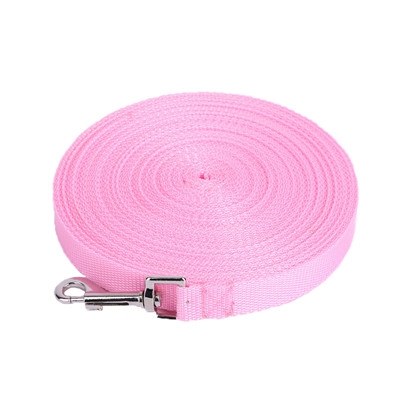 Outdoor Safety Training Dog Chain Pet Collar Dog Leash, Size:3mx2.5cm(Pink)