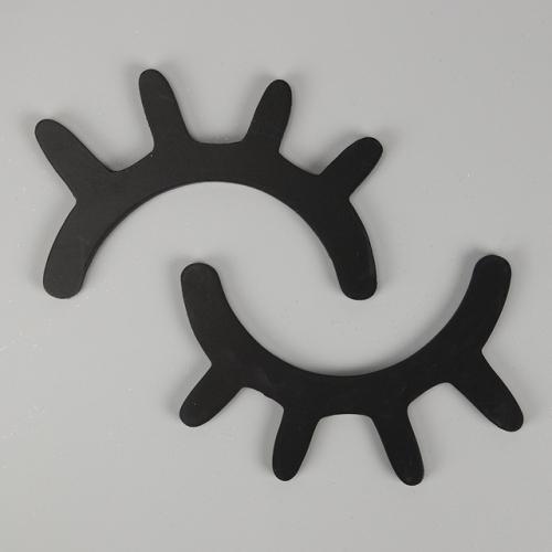 1 Pair Cute Wooden 3D Eyelash Wall Sticker Decor Bedroom Background Wall Sticker(Black)