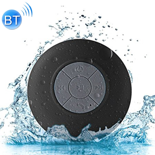 Mini Portable Subwoofer Shower Wireless Waterproof Bluetooth Speaker Handsfree Receive Call Music Suction Mic for iPhone Samsung(Black)