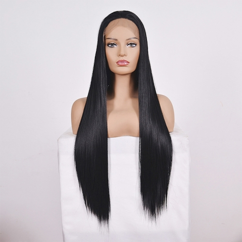 Straight Lace Front Human Hair Wigs, Stretched Length:18 inches, Style:2