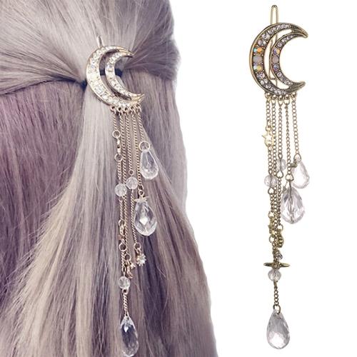 DK FASHION Rhinestone Beaded With Tassel Fashion Necklace For Women