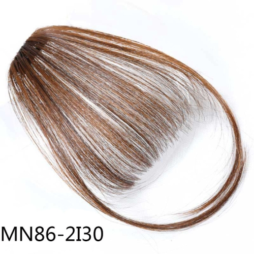 Fake Bangs Clip Hairpiece Synthetic Bangs Hair(Light Brown)