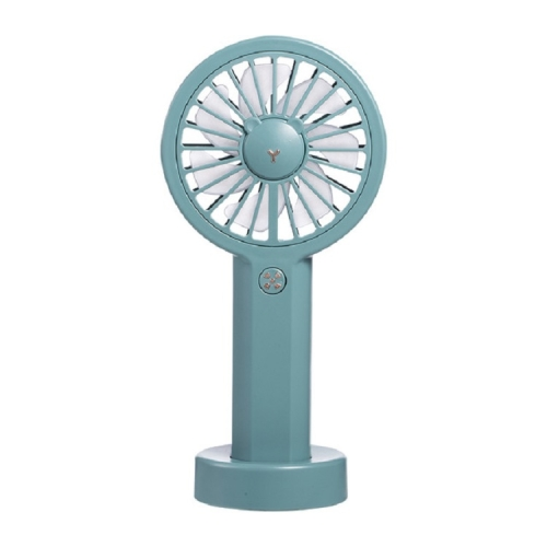Desktop Outdoor Portable Handheld USB Charging Fan with Colorful Lights(Dark Blue)