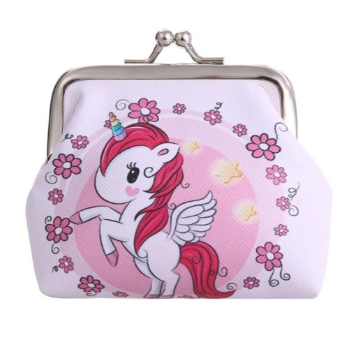 Women Mini Unicorn Wallet Card Holder Case Coin Purse Clutch Change Bag Children Wallets(3)