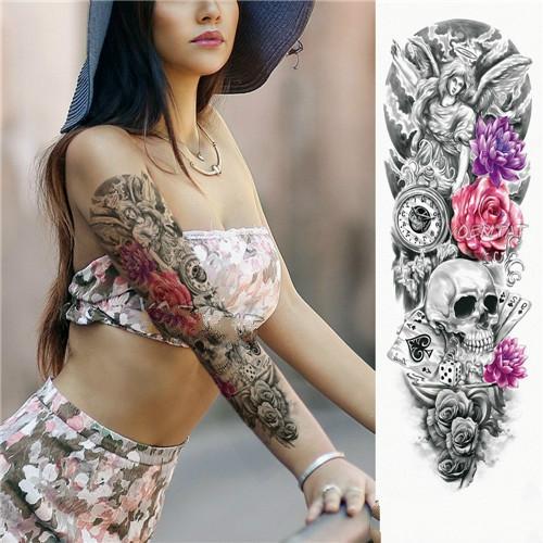 2 PCS Large Arm Sleeve Waterproof Temporary Tattoo Sticker(TQB-014) фото