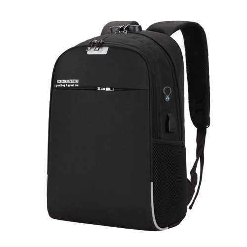 Laptop Backpack School Bags Anti-theft Travel Backpack with USB Charging Port(Black)