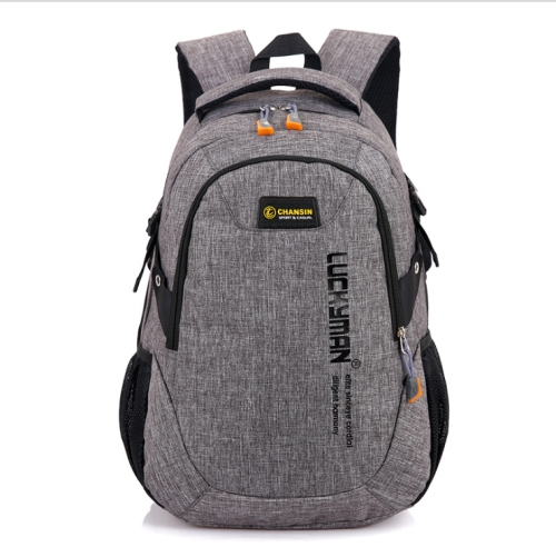 Unisex Waterproof Polyester Backpack School Bag Casual Business Laptop Backpack(Grey)