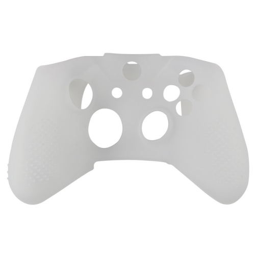Soft Silicone Rubber Gamepad Protective Case Cover Joystick Accessories for Microsoft Xbox One S Controller(WHITE)
