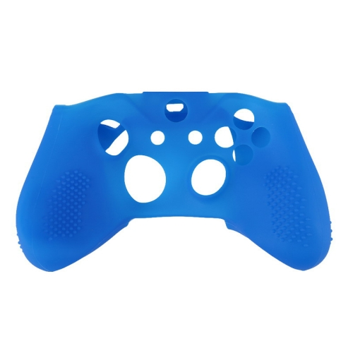 Soft Silicone Rubber Gamepad Protective Case Cover Joystick Accessories for Microsoft Xbox One S Controller(Blue)