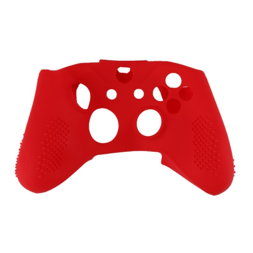 Soft Silicone Rubber Gamepad Protective Case Cover Joystick Accessories for Microsoft Xbox One S Controller(Red)